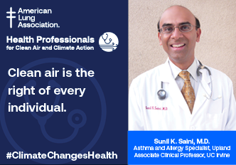 Sunil Saini, M.D., Health Professional for Clean Air and Climate Change